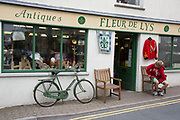 "Fleur de Lys Antique and Collectables shop in Hay-on-Wye or Y Gelli Gandryll in Welsh, known as ""the town of books"", is a small town in Powys, Wales famous for it's many second hand and specialist bookshops, although the number has declined sharply in recent years, many becoming general antique shops and similar."