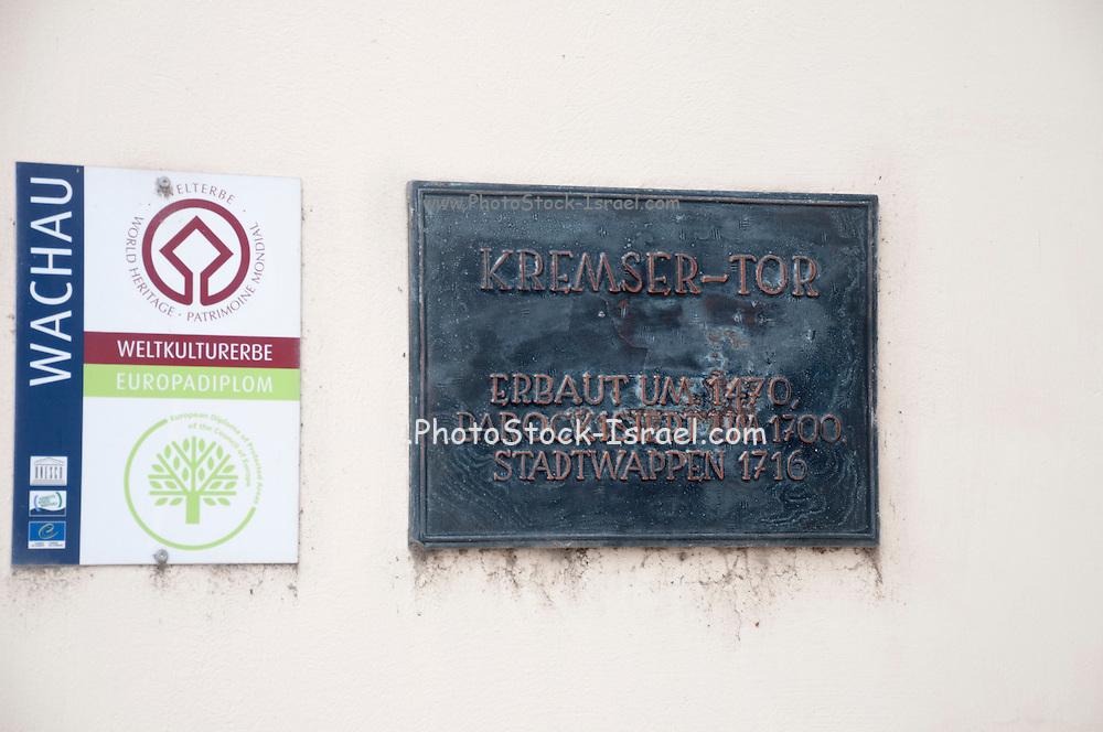 Kremser Tor entrance gate to ancient city of Krems, Wachau Valley, Austria