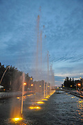 Illuminated fountain show in Batumi, Adjara, Georgia