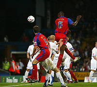 Photo: Chris Ratcliffe.<br /> Crystal Palace v Southend United. Coca Cola Championship. 08/08/2006.<br /> Leon Cort of Palace scoring the first Palace goal to make it 1-1.