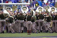 The Texas A&M Aggie Corp Band preforms at half-time of the Kansas State and Texas A&M game at KSU Stadium in Manhattan, Kansas, October 22, 2005.