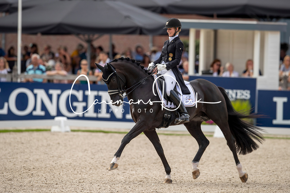 Freese Isabel, NOR, Total Hope OLD<br /> World Championship Young Dressage Horses - Ermelo 2019<br /> © Hippo Foto - Dirk Caremans<br /> Freese Isabel, NOR, Total Hope OLD