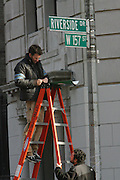 Atmosphere at The ' Salt ' Film set starring Angelina Jolie being filmed on location in on Riverside Drive in the Washington Heights section,  New York City
