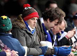 Bristol Rovers fan in a festive Christmas hat - Mandatory byline: Robbie Stephenson/JMP - 07966 386802 - 26/12/2015 - FOOTBALL - Kingsmeadow Stadium - Wimbledon, England - AFC Wimbledon v Bristol Rovers - Sky Bet League Two