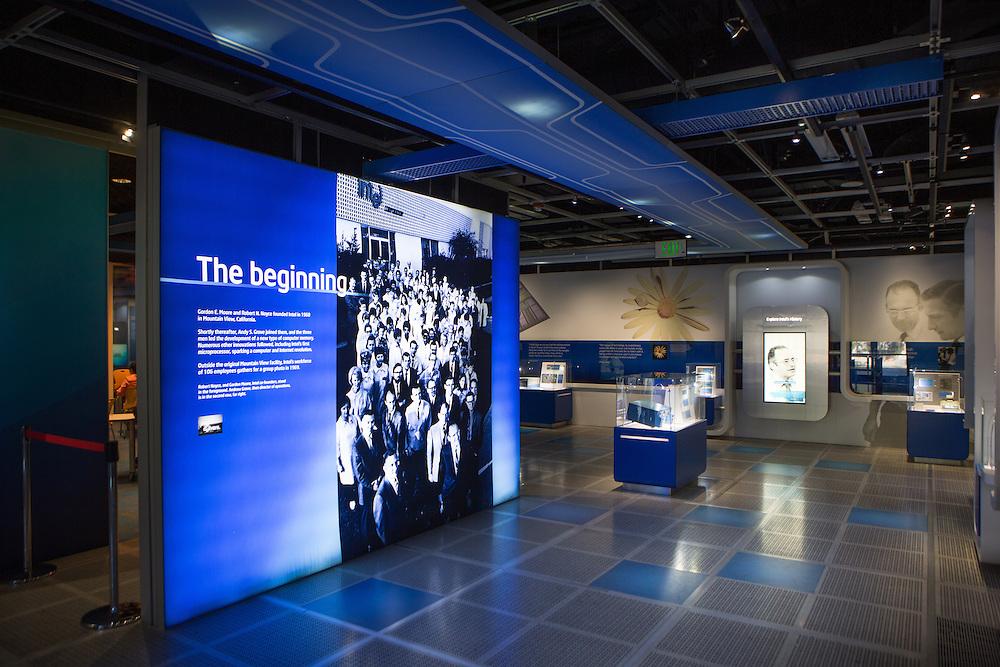 The museum inside Intel headquarters in Santa Clara, California<br /> <br /> Copyright 2015 John O'Boyle<br /> john@johnoboyle.com