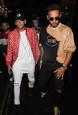 Lewis Hamilton and Neymar Jr out in London - 18 Sep 2017