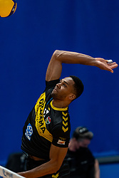 Nathan Fullerton of Dynamo in action during the second final league match between Amysoft Lycurgus vs. Draisma Dynamo on April 24, 2021 in Groningen.