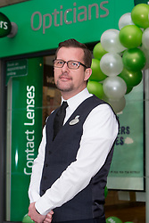 Director Craig Daker at the official opening of the new Specsavers store at 70 St John Road, Corstorphine, Edinburgh.