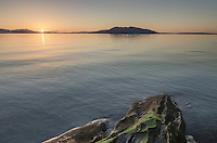 Sunset over Samish Bay, Larrabee State park Washington