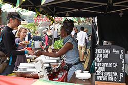 Latitude Festival, Henham Park, Suffolk, UK July 2019. Jamaican street food