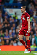 Liverpool midfielder Jordan Henderson (14) during the Premier League match between Chelsea and Liverpool at Stamford Bridge, London, England on 29 September 2018.