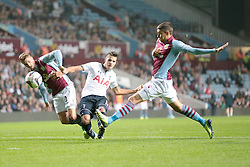 Tottenham Hotspurs' Erik Lamela shoots for goal  - Photo mandatory by-line: Nigel Pitts-Drake/JMP - Tel: Mobile: 07966 386802 24/09/2013 - SPORT - FOOTBALL -  Villa Park - Birmingham - Aston Villa v Tottenham Hotspur - Round 3 - Capital One Cup