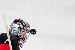 Masahito Haruna of Japan watches a puck during ice-hockey match between Slovenia and Japan at IIHF World Championship DIV. I Group A Slovenia 2012, on April 16, 2012 at SRC Stozice, Ljubljana, Slovenia. (Photo By Matic Klansek Velej / Sportida.com)