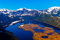 Aerial view, Misty Fjords National Monument, near Ketchikan, southeast Alaska, USA