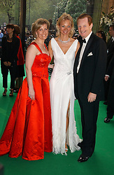 Left to right, HRH THE COUNTESS OF WESSEX and the EARL & COUNTESS OF DERBY at the NSPCC's Dream Auction held at The Royal Albert Hall, London on 9th May 2006.<br />