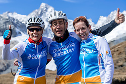 15-09-2017 ITA: BvdGF Tour du Mont Blanc day 6, Courmayeur <br /> We starten met een dalende tendens waarbij veel uitdagende paden worden verreden. Om op het dak van deze Tour te komen, de Grand Col Ferret 2537 m., staat ons een pittige klim (lopend) te wachten. Na een welverdiende afdaling bereiken we het Italiaanse bergstadje Courmayeur. Nicole, Elias, Marion