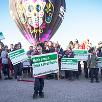 Sacred Heart Catholic School launches their Science Technology Engineering and Math (S.T.E.M.) program with a hot air balloon launch and ribbon cutting Wednesday morning in Gallup.