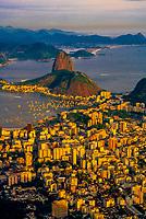 Botafogo Bay and Sugarloaf (Urca Mountain) from Corcovado, Rio de Janeiro, Brazil