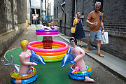 Summertime in London, England, UK. For the first time the Royal Academy and its artists take to the streets of Mayfair with Burlington Gardens pedestrianised and the street transformed for a day with this fun arts event.