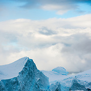 Ice landscape at Paradise Harbor on the western side of the Antarctic Peninsula.