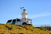 Border Patrol Vehicle Watches Over the Beach and Border at Imperial Beach