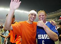 Fotball<br /> 02.07.2003<br /> Shanghai Shenhua<br /> Thomas og Jörg Albertz<br /> Foto: Digitalsport