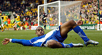 Photo: Chris Ratcliffe.<br /> Norwich City v Ipswich Town. Coca Cola Championship. 05/02/2006.<br /> Danny Haynes of Ipswich celebrates in style after winning the match for Ipwsich