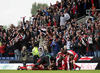 Photo: Rich Eaton.<br /> <br /> Oxford United v Leyton Orient. Coca Cola League 2. 06/05/2006.<br /> <br /> Leyton Orient fans and players celebrate their promotion