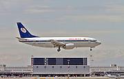 Belavia Boeing 737-3Q8, at Malpensa airport, Milan, Italy