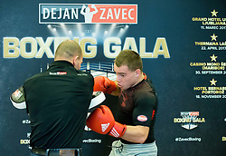 Dejan Zavec and Aljaz Venko during press conference of Boxing Gala events organised by Dejan Zavec, on February 21, 2017 in Hotel Union, Ljubljana, Slovenia. Photo by Vid Ponikvar / Sportida