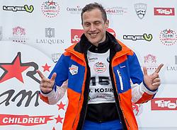 22.03.2014, Sportalm, Seefeld, AUT, 8. World Star Ski Event, Star Team for Children, Preisverleihung, im Bild Podium Biathlon Herren Jure Kosir (Olympiasieger Ski Alpin, 3. Platz) // during the award ceremony of Star Team for Children of 8th World Star Ski Event at the Sportalm in Seefeld, Austria on 2014/03/22. EXPA Pictures © 2014, PhotoCredit: EXPA/ Johann Groder
