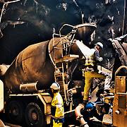 Tunnelprojektet Hallandsåsen med betongelement.