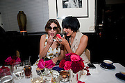 ALEXA CHUNG; AGYNESS DEHN, Dinner hosted by editor of British Vogue, Alexandra Shulman in association with Net-A-Porter.com in honour of 25 years of London Fashion Week and Nick Knight. Caprice. London.  September 21, 2009
