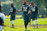 January 28 2016: Seattle Seahawks defensive end Michael Bennett during the Pro Bowl practice at Turtle Bay Resort on North Shore Oahu, HI. (Photo by Aric Becker/Icon Sportswire)