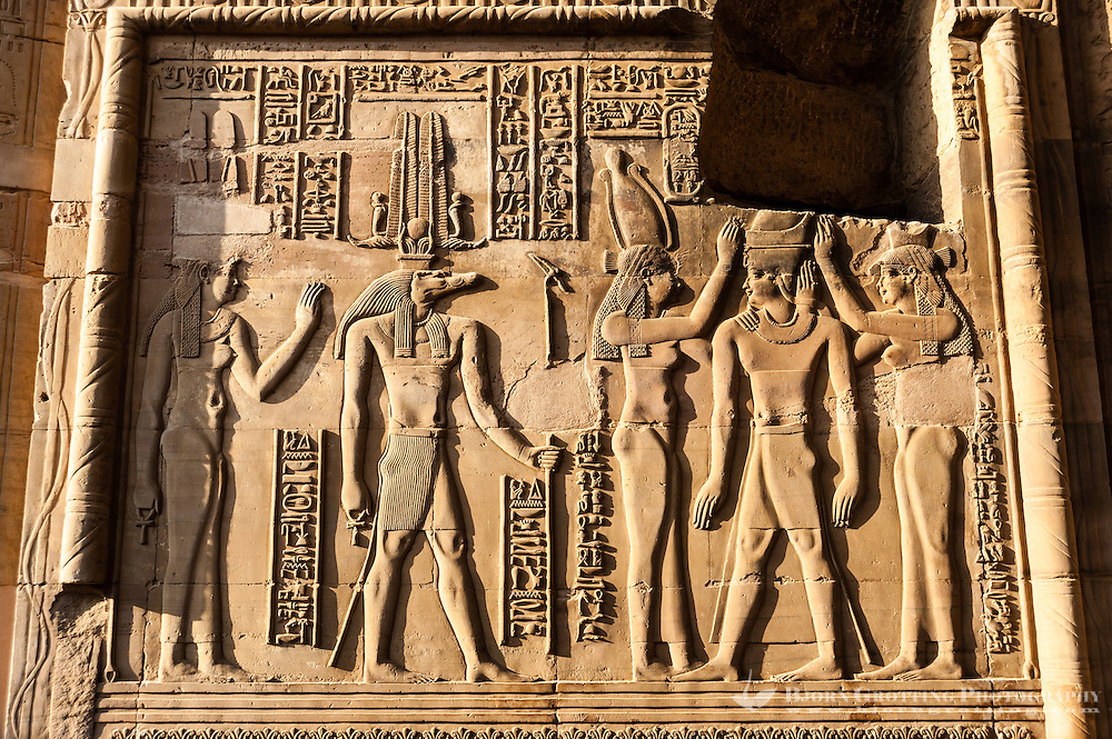 Egypt. The Temple of Kom Ombo is an unusual double temple built during the Ptolemaic dynasty.