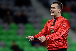 Referee Dragoslav Peric during football match between NK Olimpija and NK Domzale in second leg of quarter-final of Hervis Cup, on October 27, 2010 in Stadium Stozice, Ljubljana, Slovenia. Photo by Matic Klansek Velej / Sportida