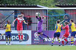 Bristol Academy's Mary Earps in action during the FA Women's Super League match between Bristol Academy Women and Arsenal Ladies FC at Stoke Gifford Stadium on 9 May 2015 in Bristol, England - Photo mandatory by-line: Paul Knight/JMP - Mobile: 07966 386802 - 09/05/2015 - SPORT - Football - Bristol - Stoke Gifford Stadium - Bristol Academy Women v Arsenal Ladies FC - FA Women's Super League
