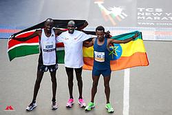 Korir, Kamworor, Gebre flag<br /> TCS New York City Marathon 2019
