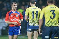 Referee Leighton Hodges during the rugby test match between Romania and USA, on National Stadium Arc de Triomphe in Bucharest, November 8, 2014. Romania lose the match against USA, final score 17-27.