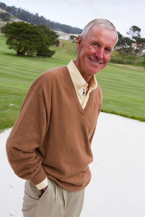 Portraits of Jim Langley, former golf pro at Cypress Point golf club in Pebble Beach, California.