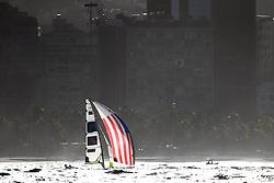 12.08.2016, Marina da Gloria, Rio de Janeiro, BRA, Rio 2016, Olympische Sommerspiele, Segeln, 3. Rennen, Herren, 49er Klasse, im Bild Thomas Barrows (USA), Joe Morris (USA) // Thomas Barrows of the USA and Joe Morris of the USA during the Mens 49er Class Sailing of the Rio 2016 Olympic Summer Games at the Marina da Gloria in Rio de Janeiro, Brazil on 2016/08/12. EXPA Pictures © 2016, PhotoCredit: EXPA/ Johann Groder