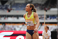 Jessica Ennis-Hill of Great Britain in the Long Jump, during the Sainsbury's Anniversary Games at the Queen Elizabeth II Olympic Park, London, United Kingdom on 25 July 2015. Photo by Phil Duncan.