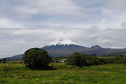 Ecuador, May 26 2010: View of Volcano Cotapaxi from the grounds of Hacienda San Agustin del Callo. Copyright 2010 Peter Horrell