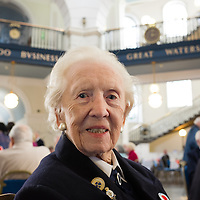 Liverpool, UK, 25th May, 2013. Ex-Wren veteran Stella Passey.  She worked at Western Approaches during the war.  She was in town as part of the 70th anniversary celebrations of the Battle of the Atlantic.