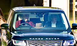 © Licensed to London News Pictures. 19/09/2020. Windsor, UK. Prince Andrew, Duke of York, drives from his home in the grounds of Windsor Great Park. The Duke is under renewed pressure to talk to the FBI regarding his dealings with Jeffrey Epstein after the convicted financier's Chef Adam Perry Lang started to cooperate with US authorities .Photo credit: Peter Macdiarmid/LNP