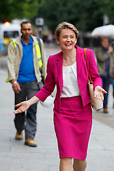 © Licensed to London News Pictures. 19/08/2015. London, UK. Labour Party leader candidate YVETTE COOPER arriving to host a women's event at Coin Street Conference Centre in London on August 19, 2015. Photo credit: Tolga Akmen/LNP