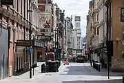 Theatreland in the West End is eerily quiet and silent on empty streets as lockdown continues and people observe the stay at home message in the capital on 12th May 2020 in London, England, United Kingdom. Coronavirus or Covid-19 is a new respiratory illness that has not previously been seen in humans. While much or Europe has been placed into lockdown, the UK government has now announced a slight relaxation of the stringent rules as part of their long term strategy, and in particular social distancing.