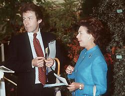 Princess Margaret meet up with ex boyfriend Roddy Llewellyn at the Chelsea Flower Show.