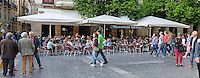Parte Vieja, Old Town, San Sebastian, Donostia, Spain, May, 2015, alfresco, dining, socialising, 201505080957<br />