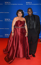 CNN political analyst April Ryan (L) and Guest arrive for the White House Correspondents' Association (WHCA) dinner in Washington, D.C., on Saturday, April 29, 2017 (Photo by Riccardo Savi)  *** Please Use Credit from Credit Field ***